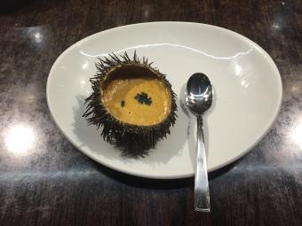 Sea urchin pintxo