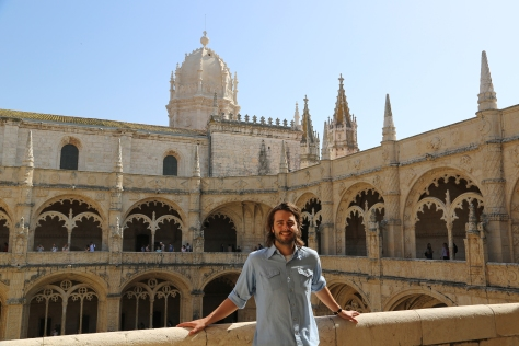 At the Jerónimos Monastery (Lisbon, Portugal)